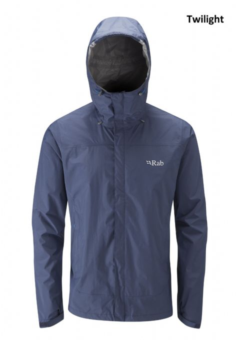Rab Mens Downpour Jacket - Lightweight Waterproof Coat
